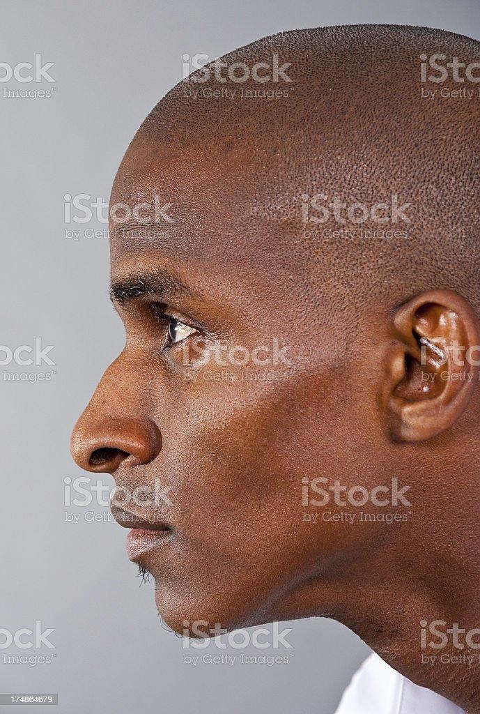Man Isolated on Grey royalty-free stock photo