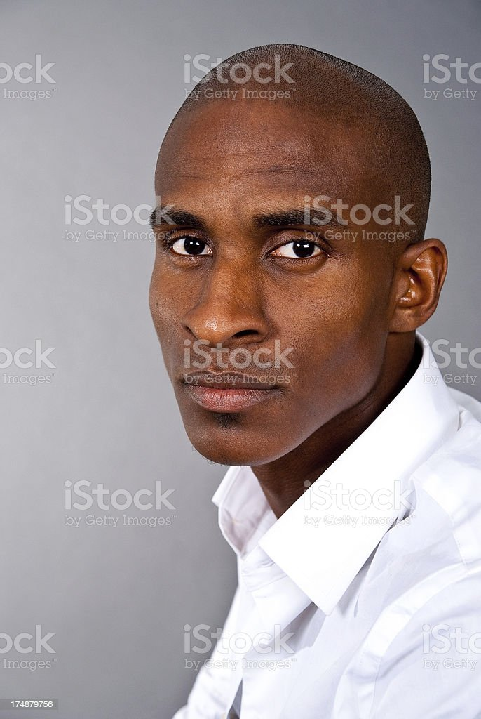 Man Isolated on Grey royalty-free stock photo