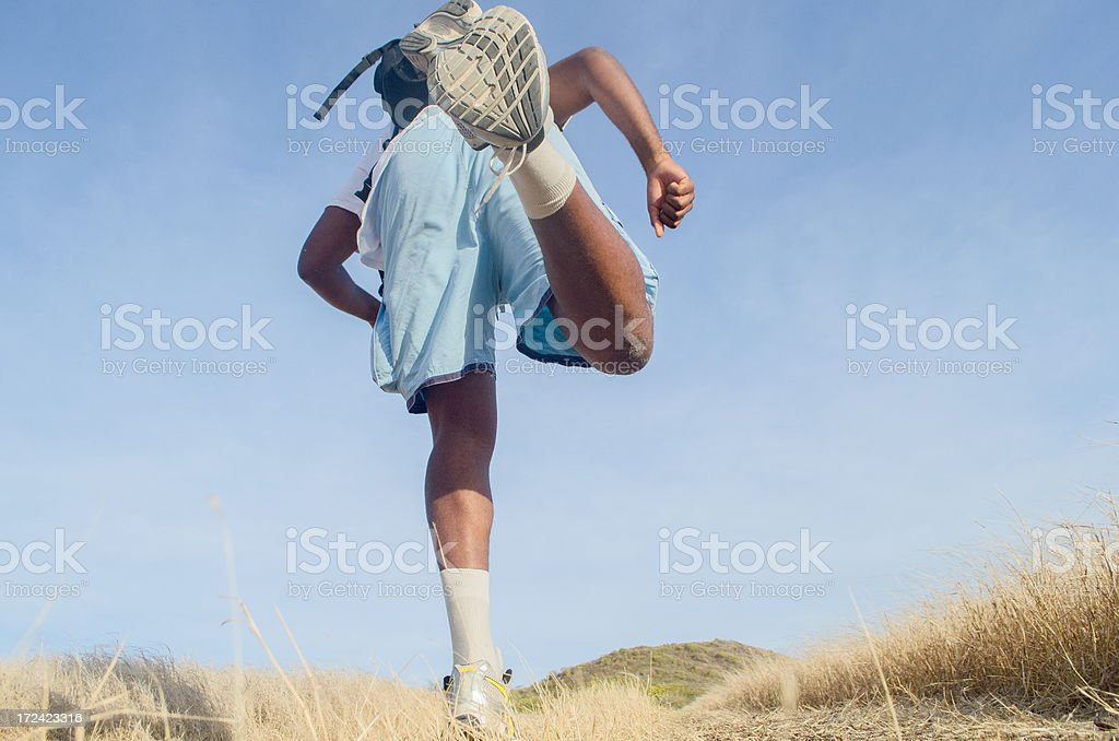 man jogging and training outdoors royalty-free stock photo