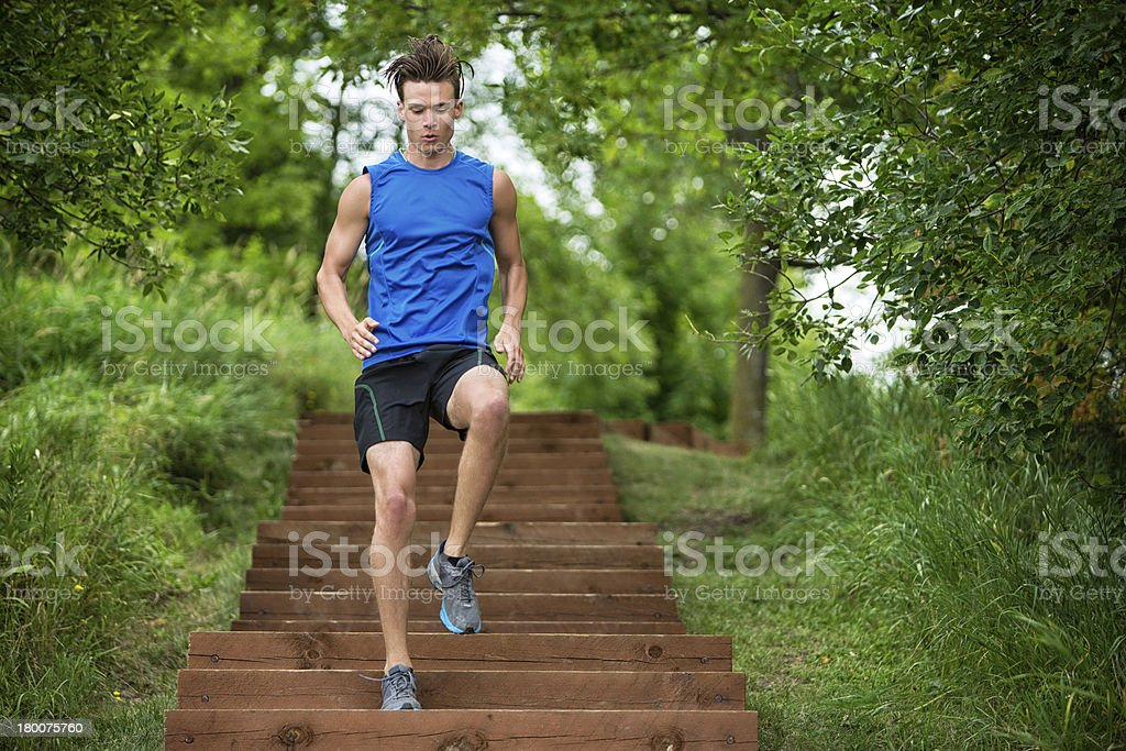 Man Jogging royalty-free stock photo