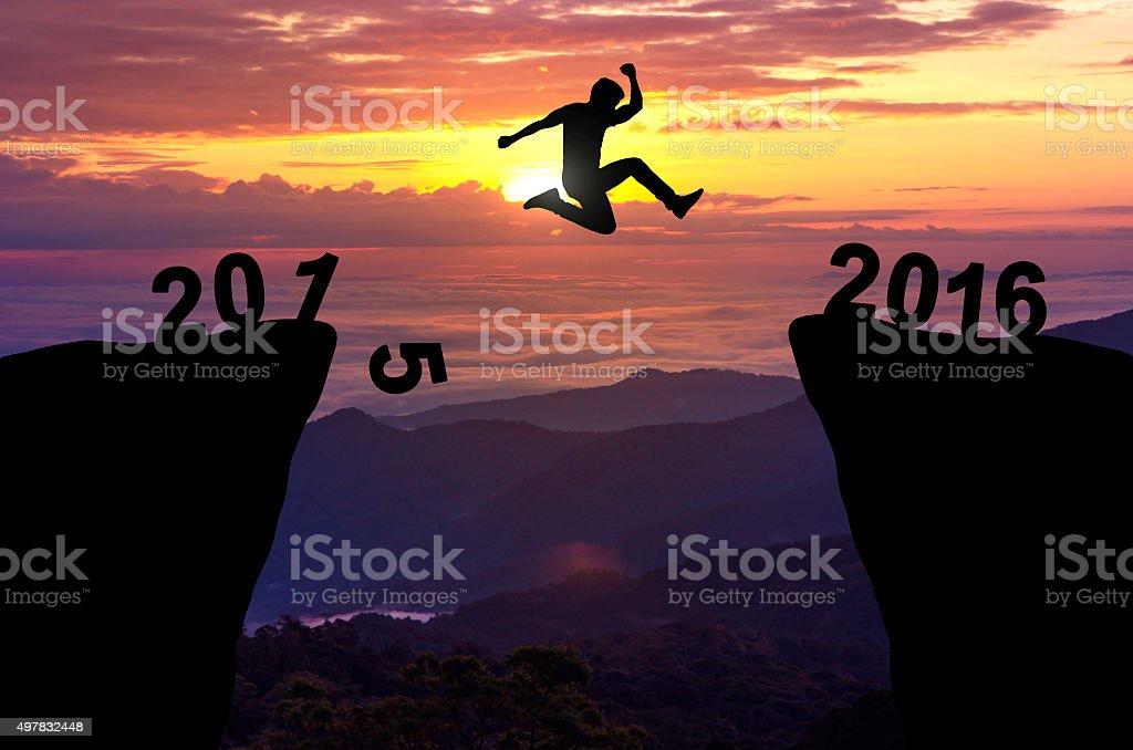 man jump 2016 stock photo