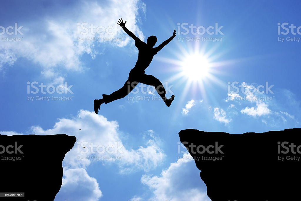 Man jump stock photo