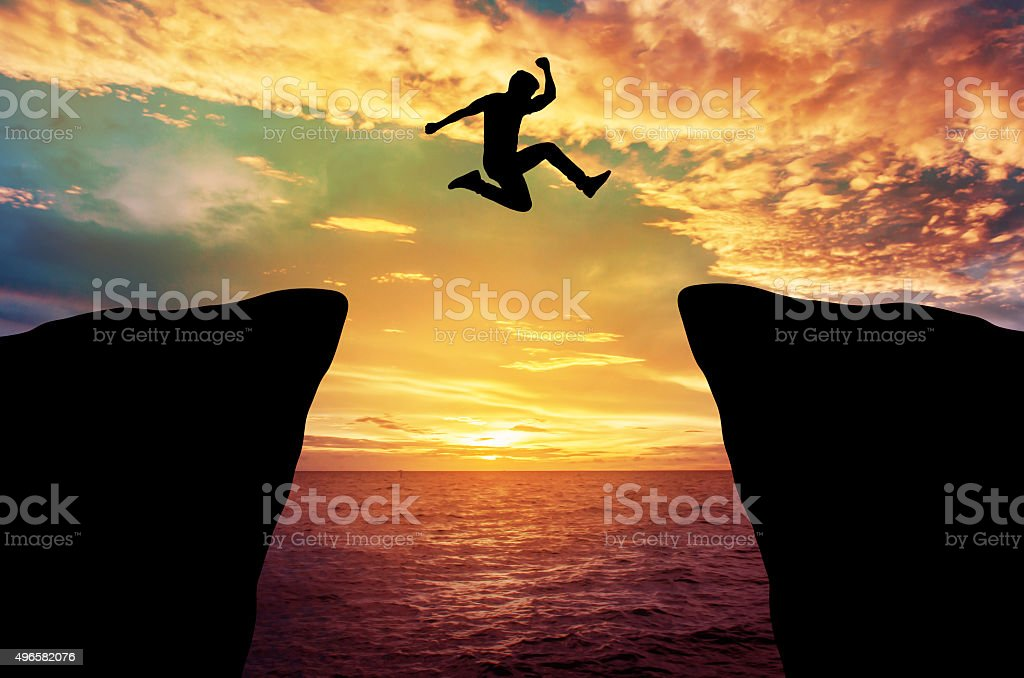 Man jump stock photo