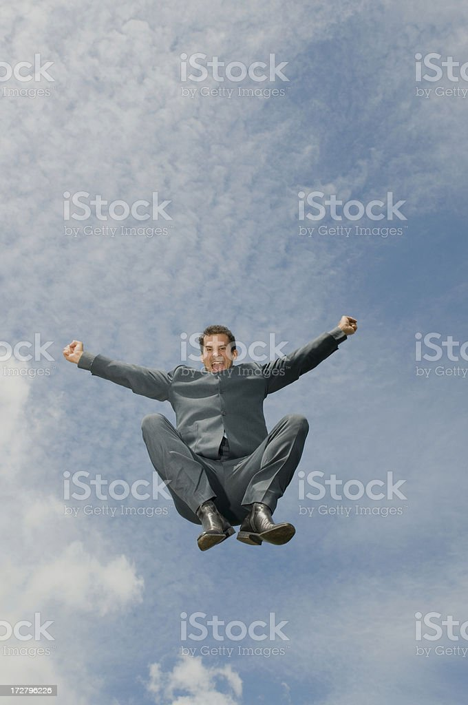 Man Jumping royalty-free stock photo