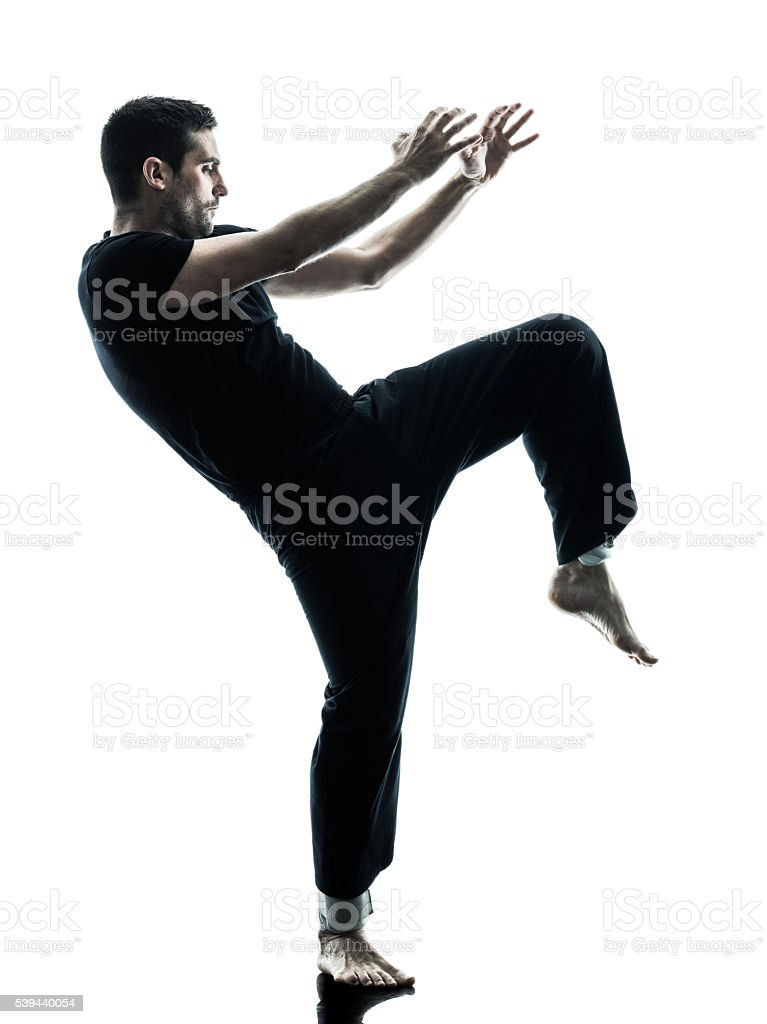 man krav maga fighters fighting isolated stock photo