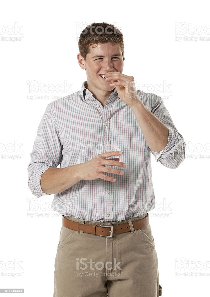 Man laughing stock photo