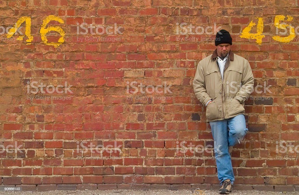 Man Leaning royalty-free stock photo
