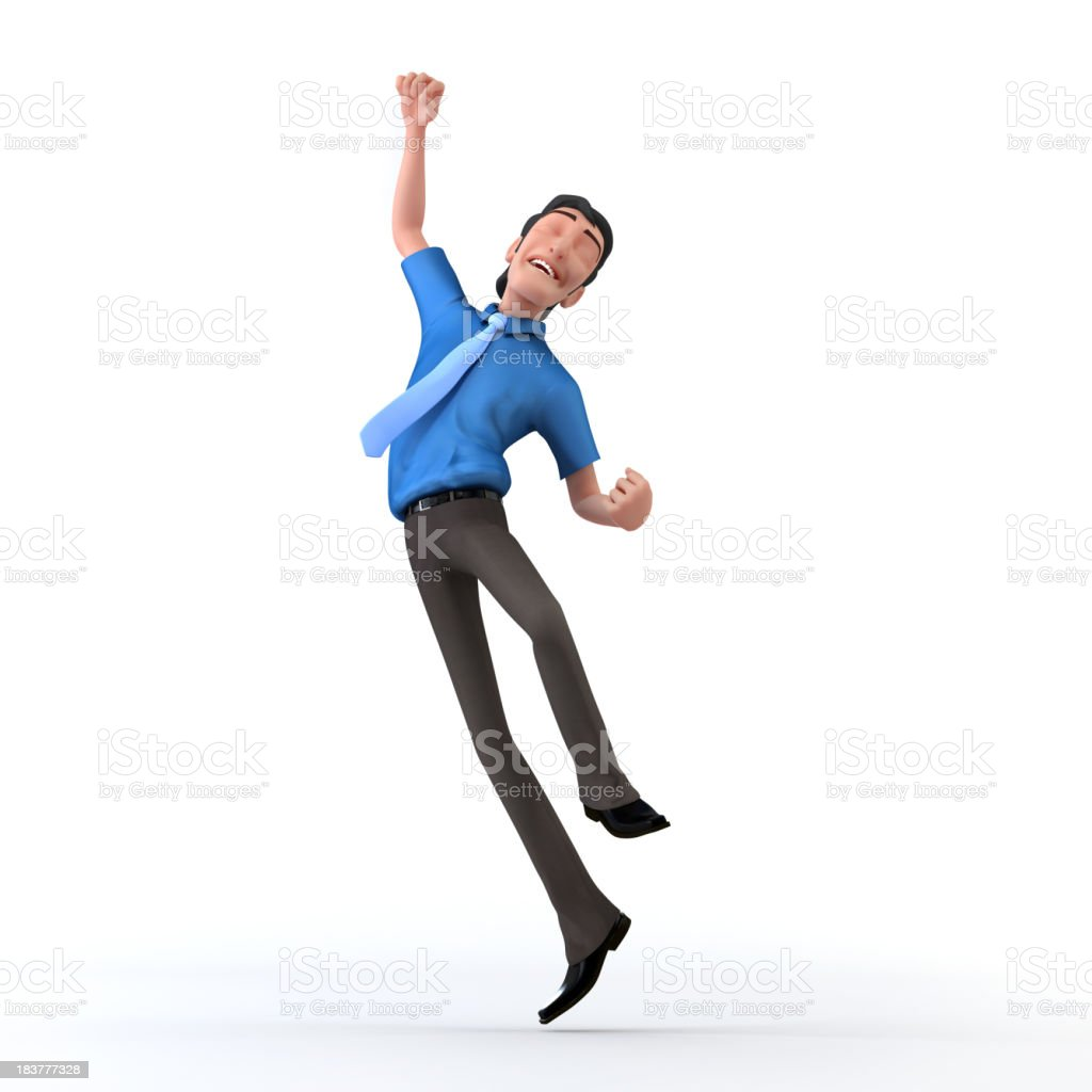 Man leaping in the air with success royalty-free stock photo