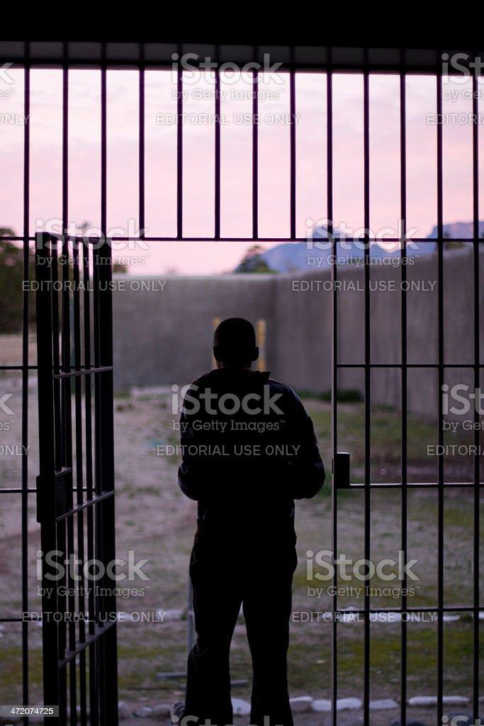 Man Leaving Prison stock photo