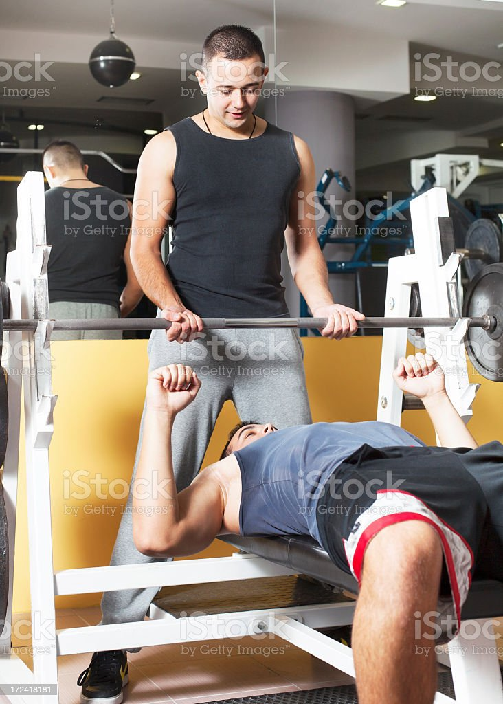 Man lifitng heavy weights royalty-free stock photo