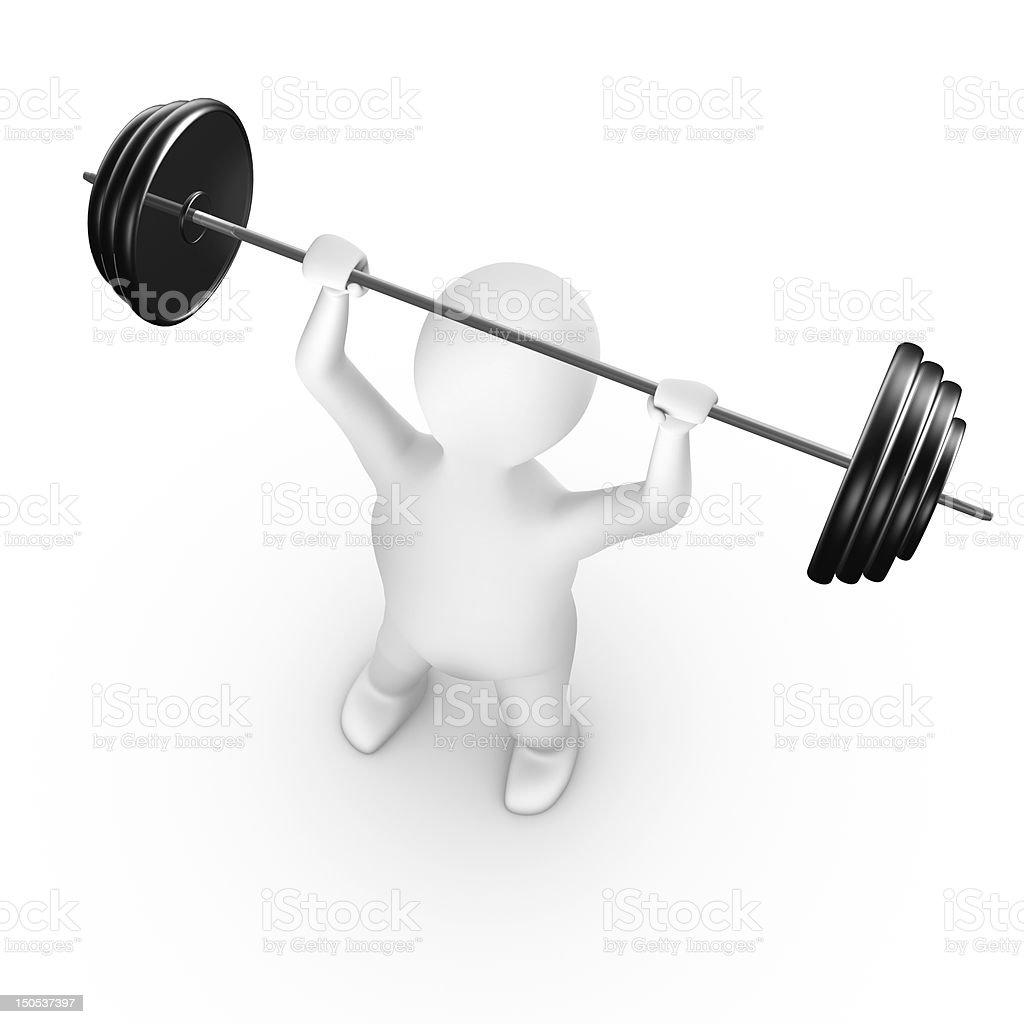 Man lifting weight royalty-free stock photo