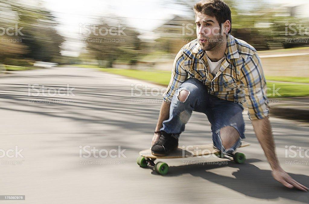 Man longboarding royalty-free stock photo