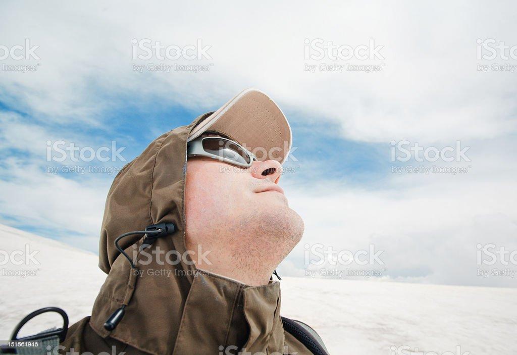 Man looking at the sky royalty-free stock photo