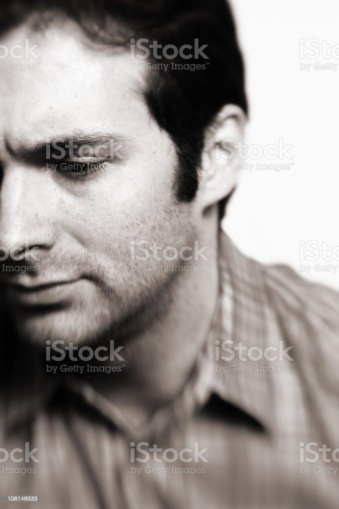 Man looking away royalty-free stock photo