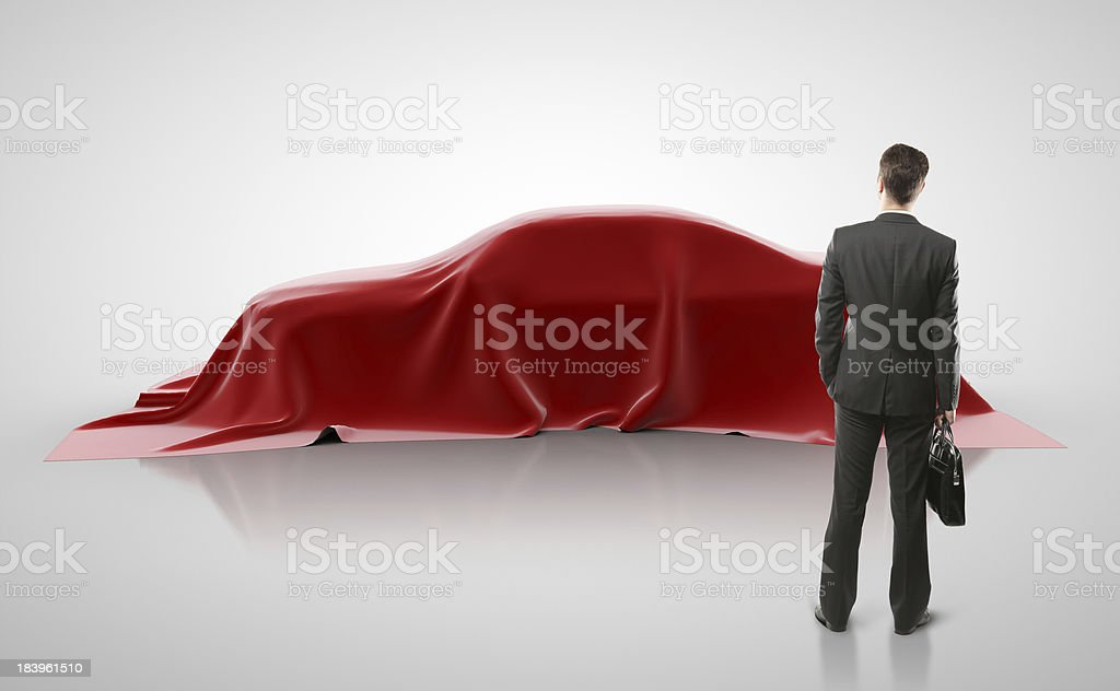 man looking on car royalty-free stock photo