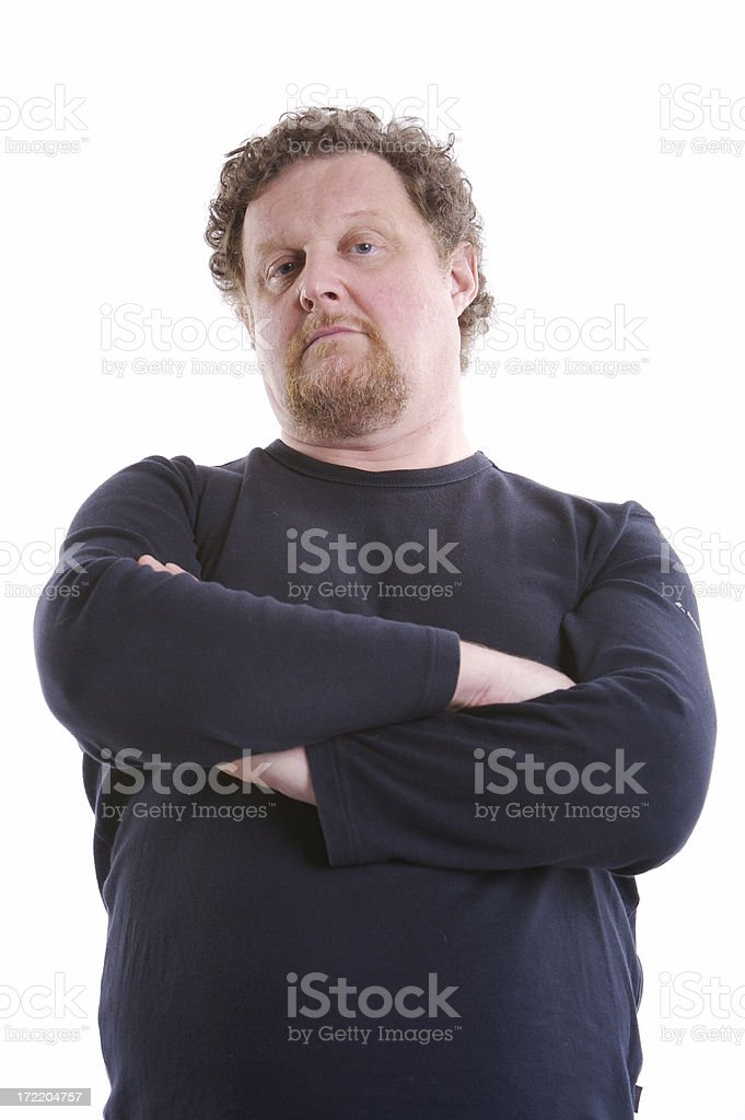 Man looking stock photo