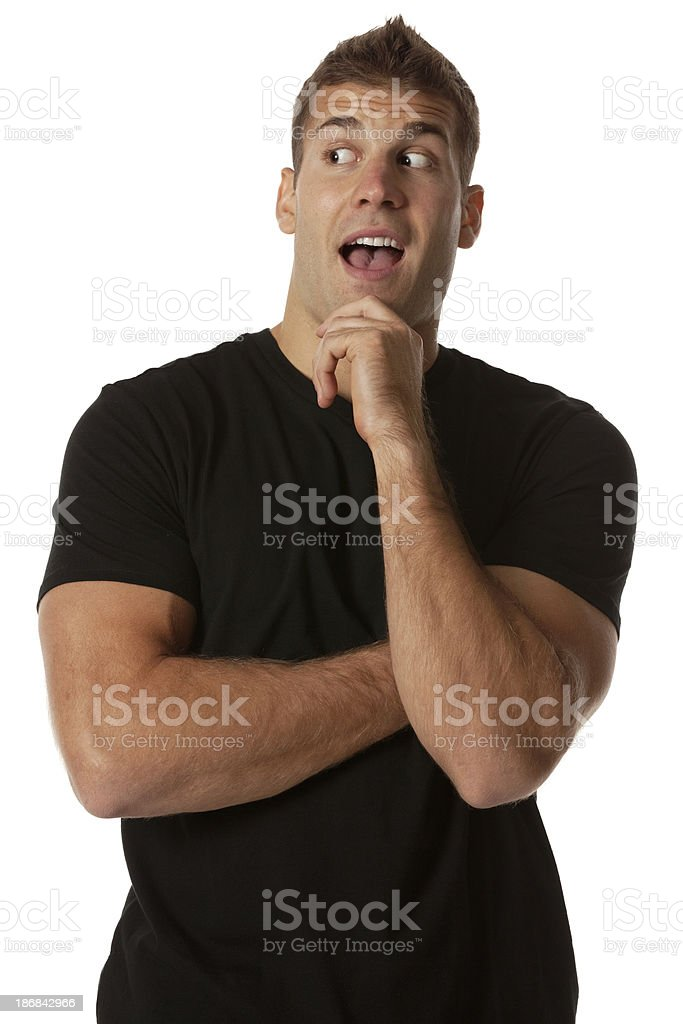 Man looking surprised royalty-free stock photo