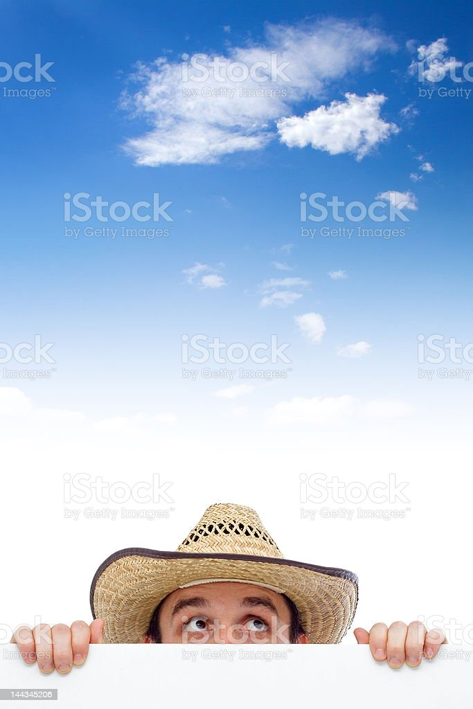 Man looking up royalty-free stock photo