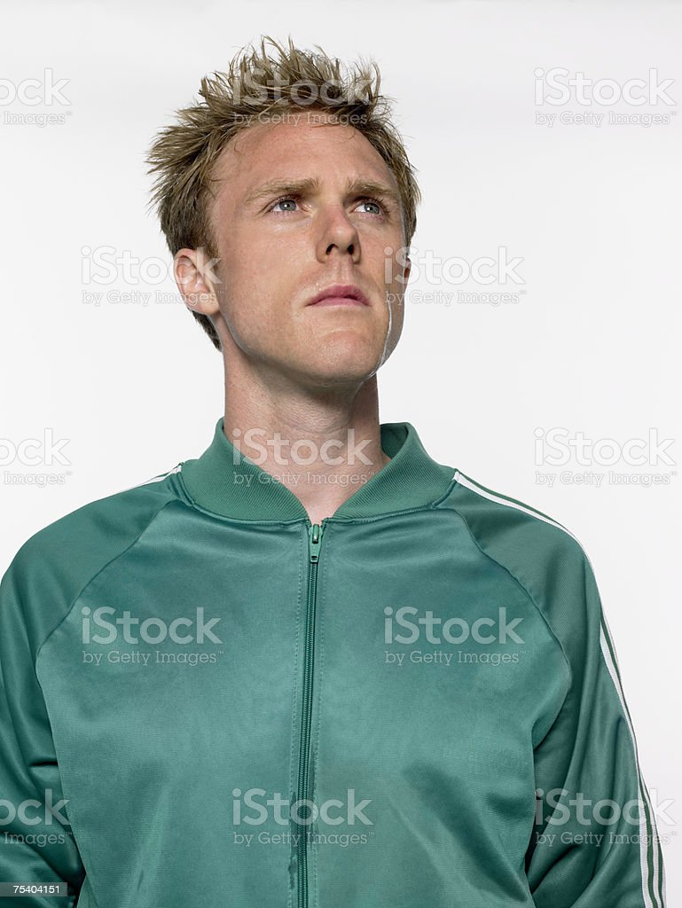 Man looking up royalty-free stock photo