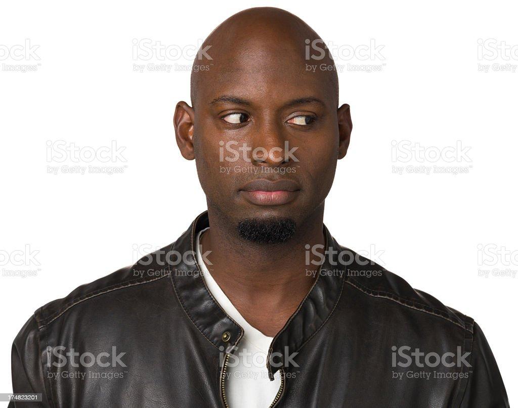 Man Looks Sideways royalty-free stock photo