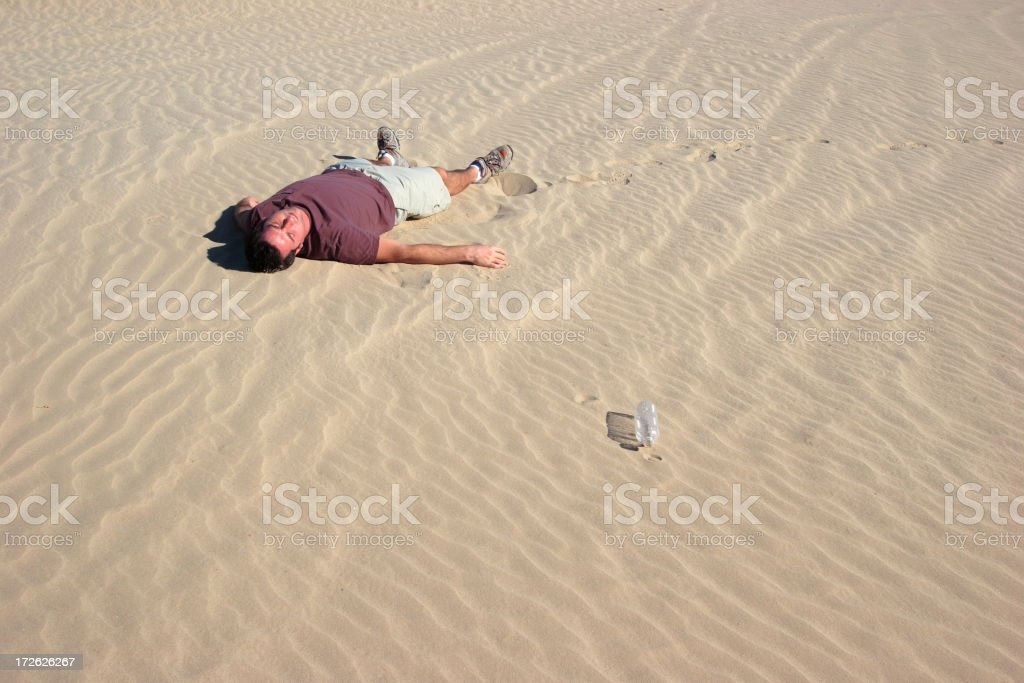 Man Lying In Sand royalty-free stock photo