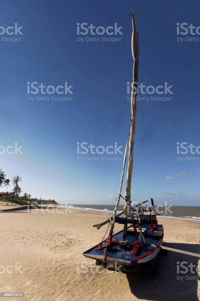 Man made fishing boat stock photo