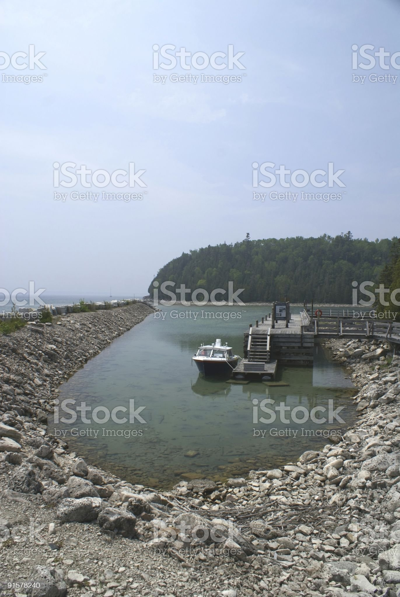 Man Made Harbour royalty-free stock photo