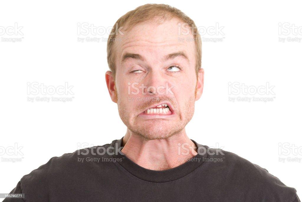 Man Makes Strange Face stock photo