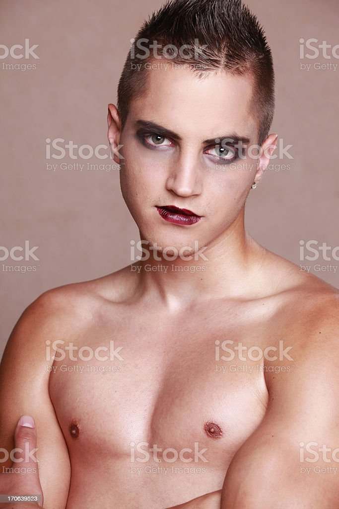 Man makeup royalty-free stock photo