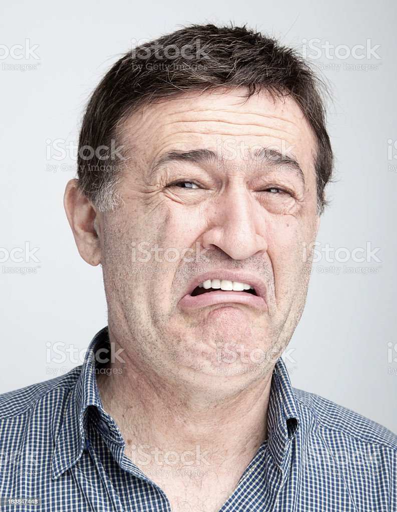 Man making a face royalty-free stock photo