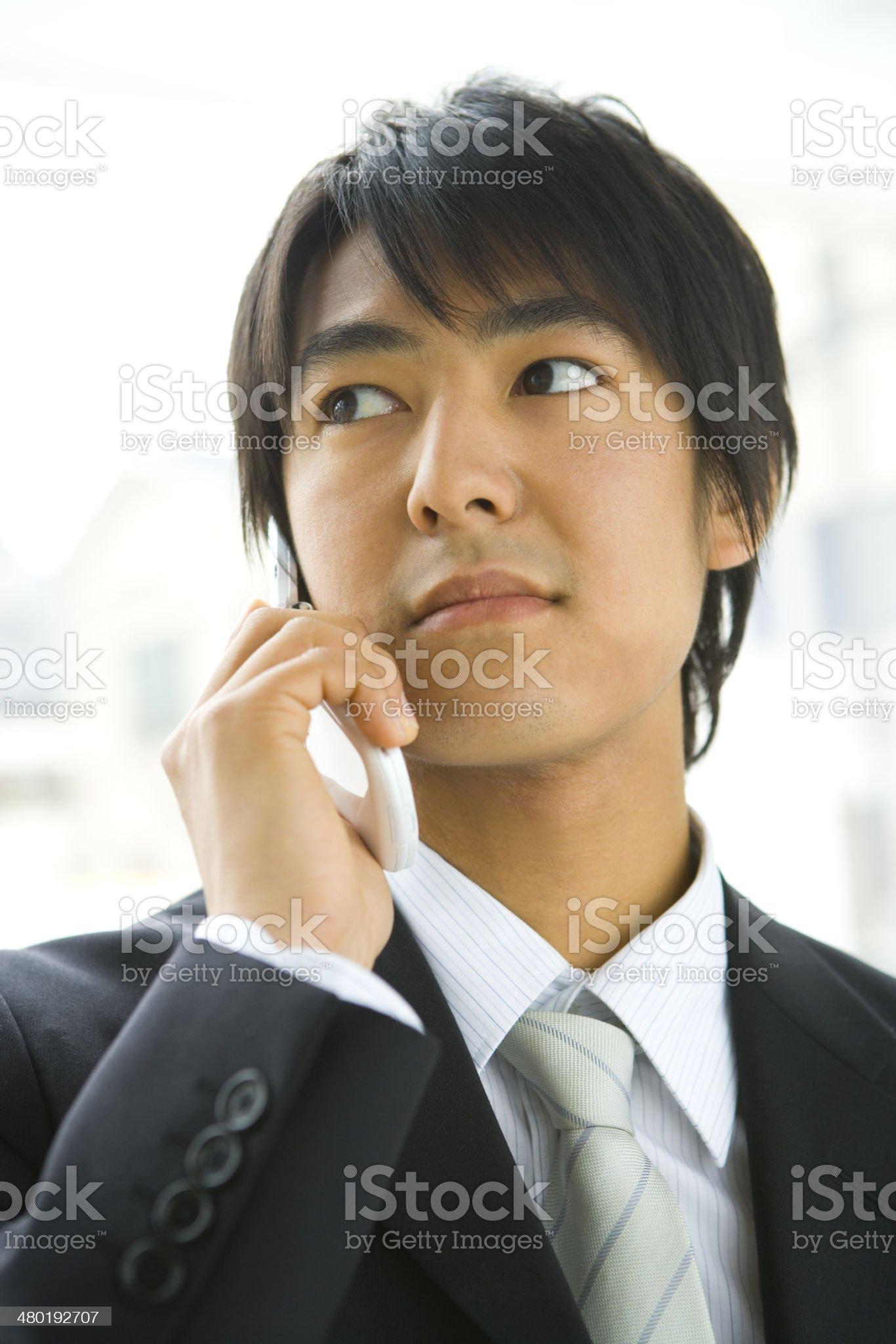 Man making a phone call royalty-free stock photo