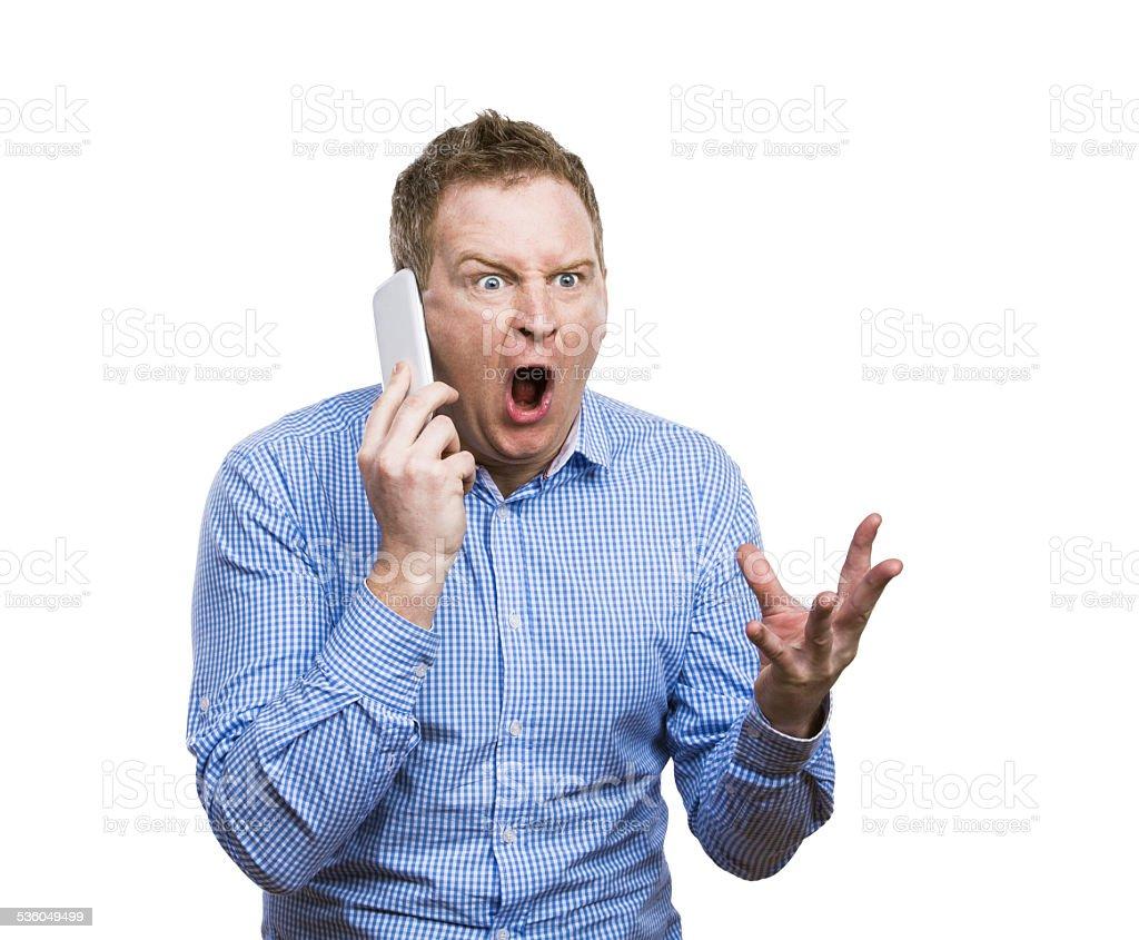 Man making a phone call stock photo