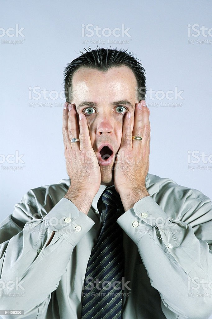 Man Making 'Oh No' Expression royalty-free stock photo