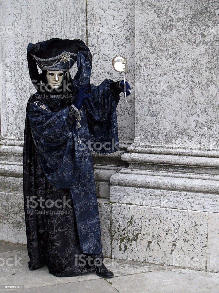 Man & Mask, Venetian Carnival. royalty-free stock photo