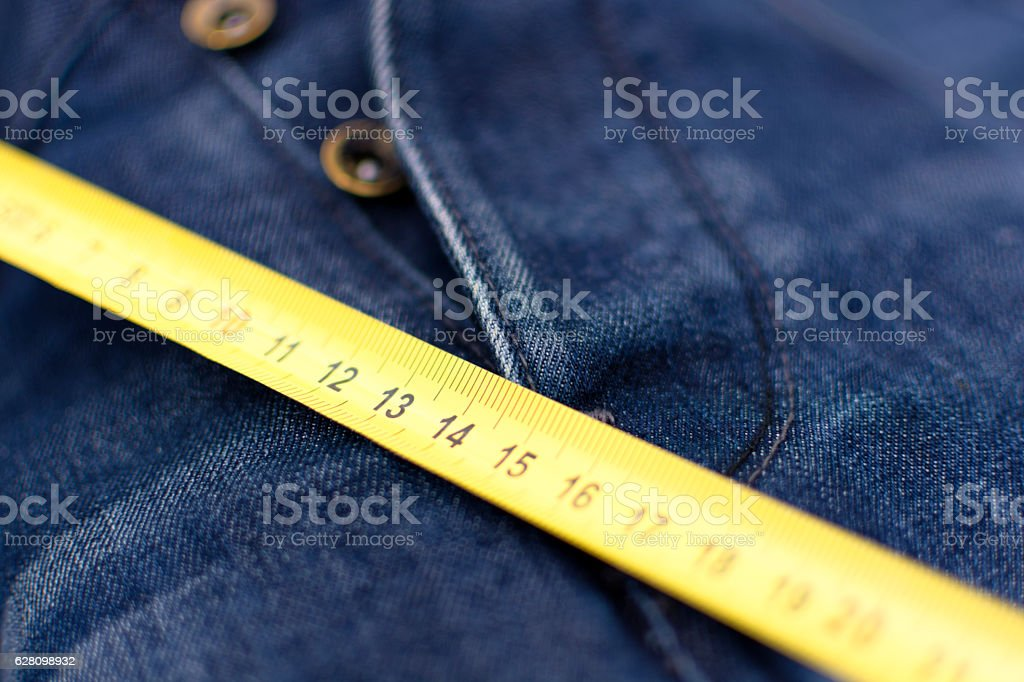 Man Measuring Things, Jeans Crotch stock photo