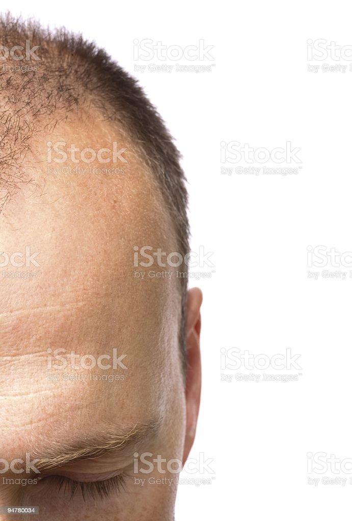 Man meditating stock photo