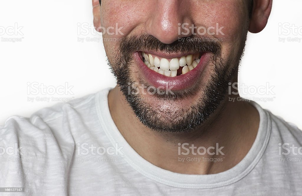 Man Missing Tooth stock photo