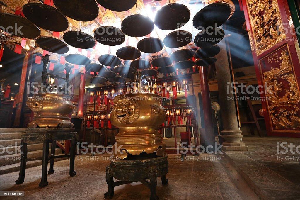 Man Mo Temple in Hong Kong stock photo