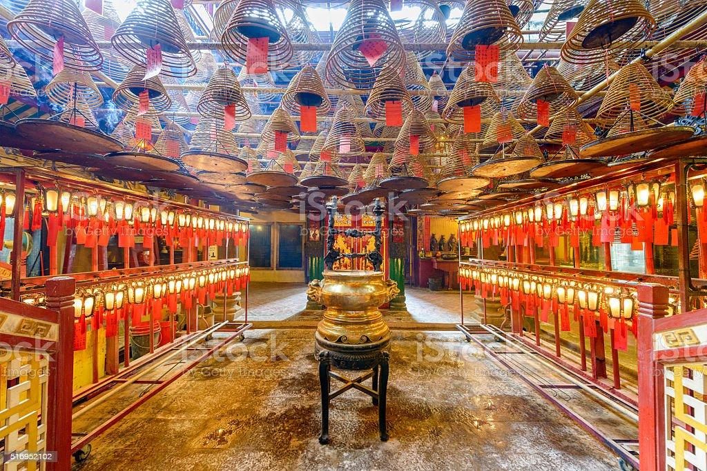 Man Mo Temple stock photo