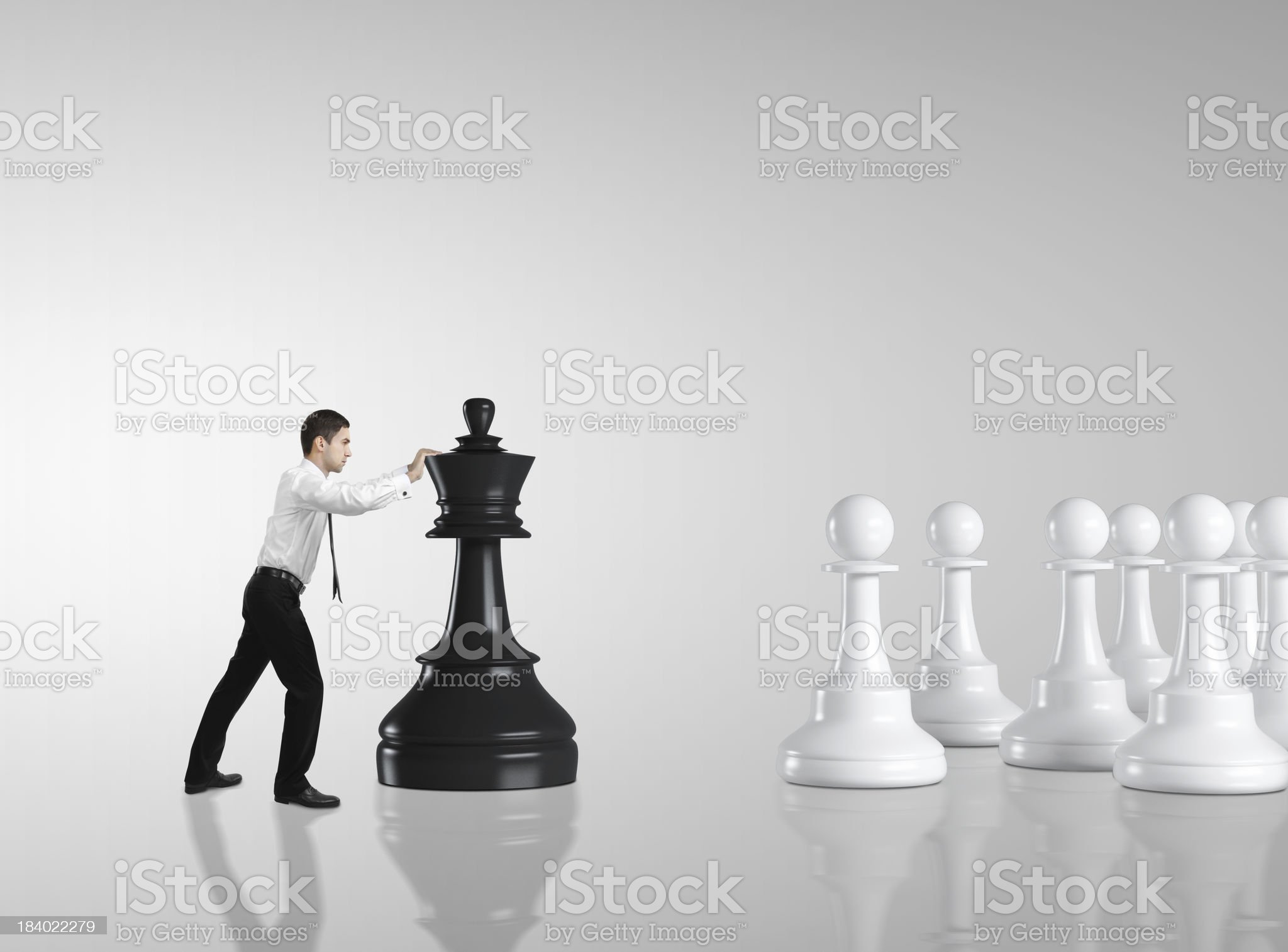 man moving chess royalty-free stock photo