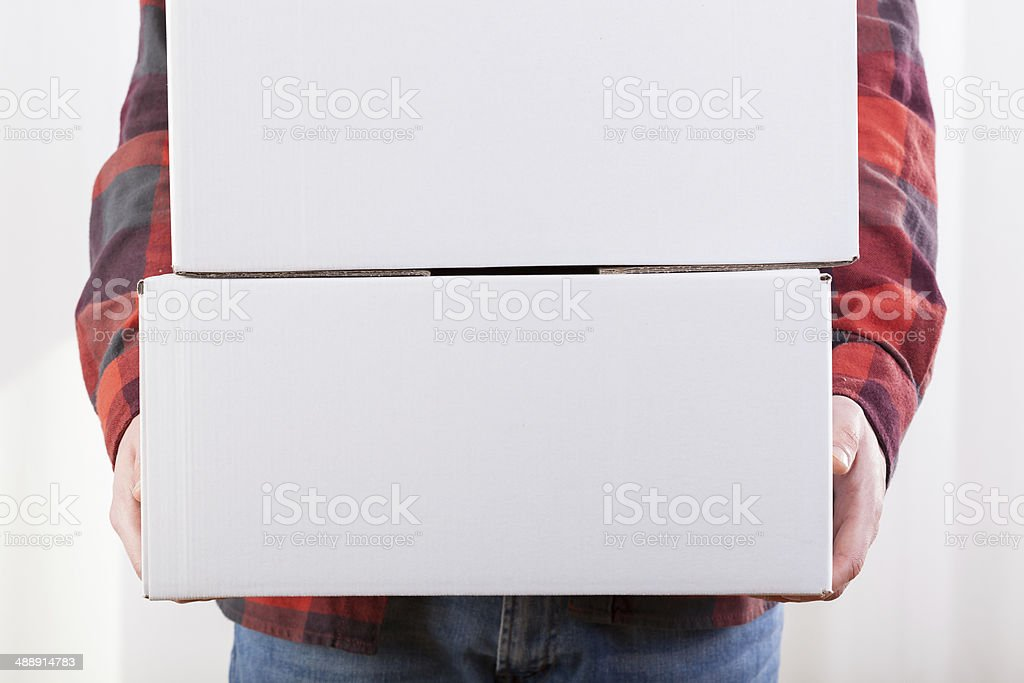 Man moving in stock photo