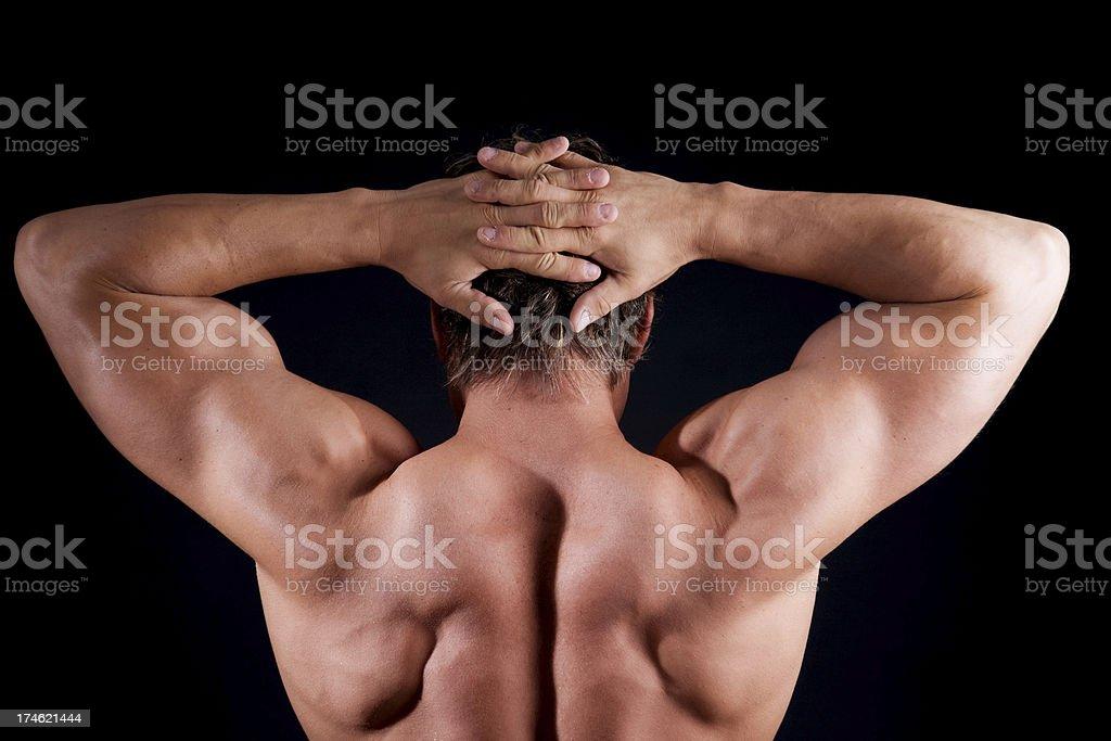 Man Muscular Back royalty-free stock photo