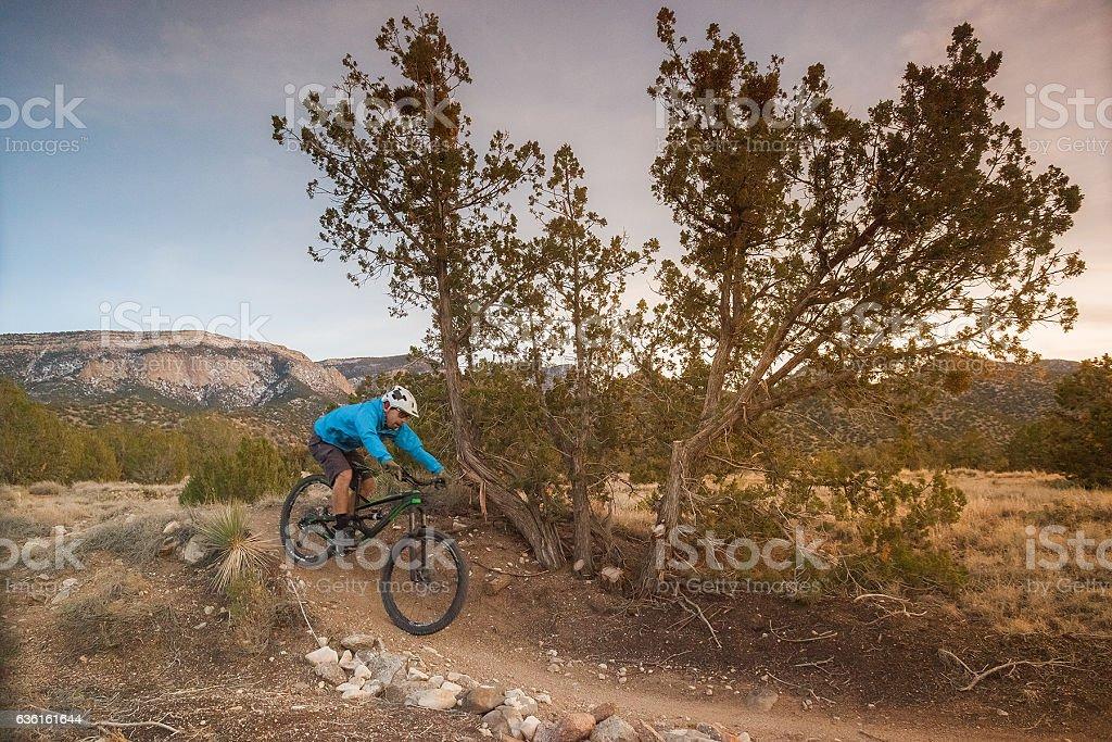 man nature mountain biking inspiration stock photo
