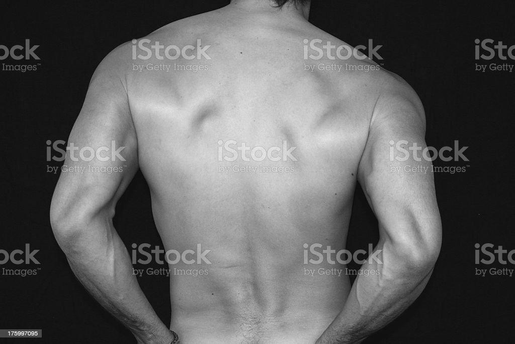 Man Nude Back royalty-free stock photo