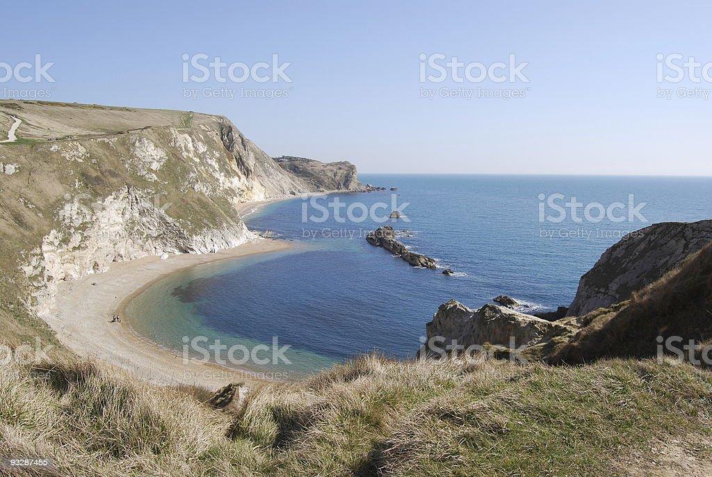 Man O' War beach, Adjacent to Durdle Door stock photo