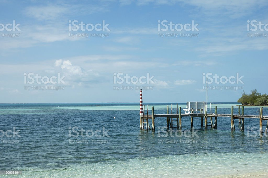 Man O War Cay Dock stock photo