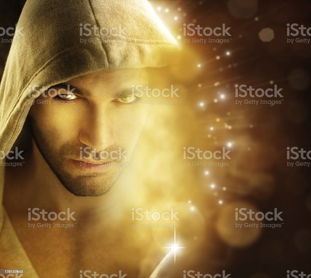 Man of light royalty-free stock photo