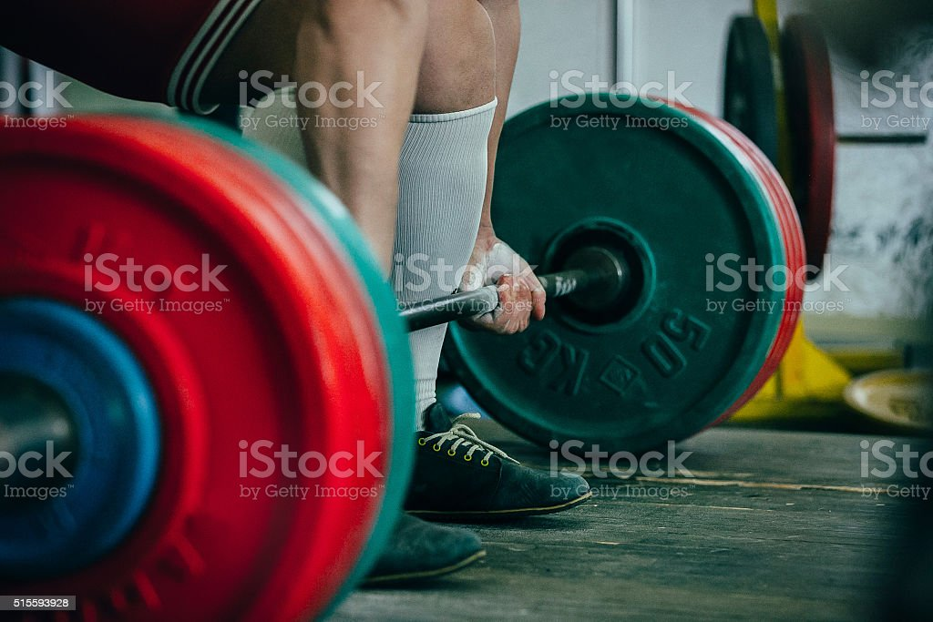 man of powerlifter stock photo