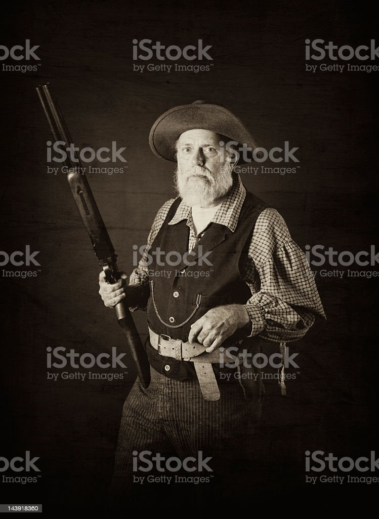 Man of the Wild West stock photo