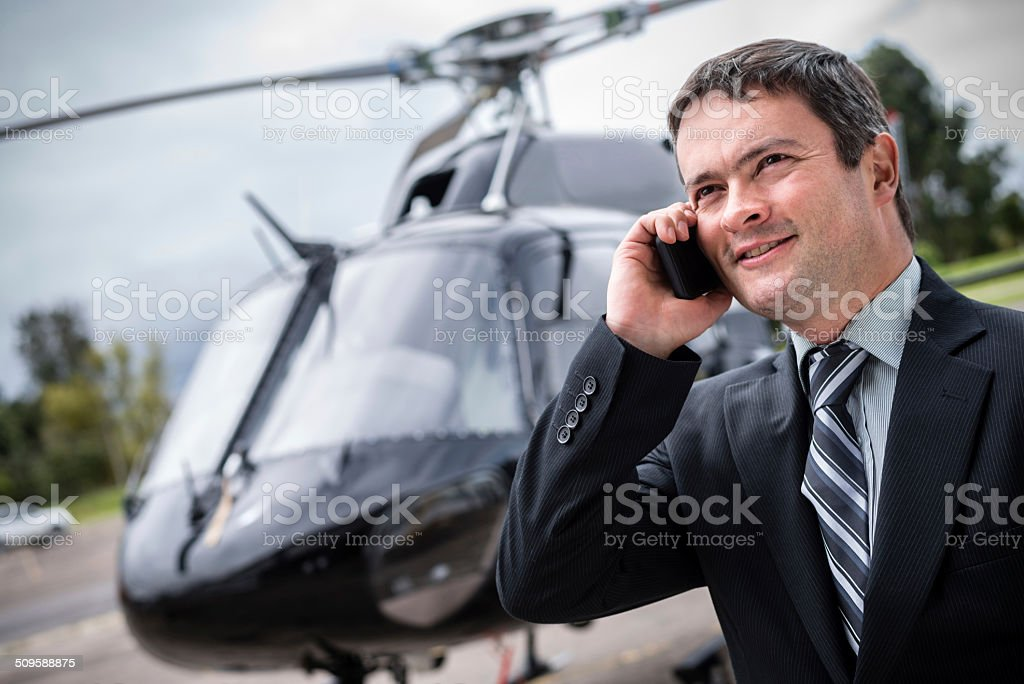 Man on a business travel stock photo